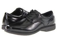 Nunn Bush Men's BARTOLE STREET lace-up leather Black Shoes 84356-001