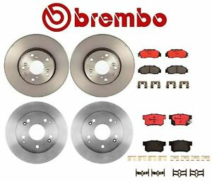 For Honda Accord 3.0L Brembo Front Rear Full Brake Kit Disc Rotors Ceramic Pads