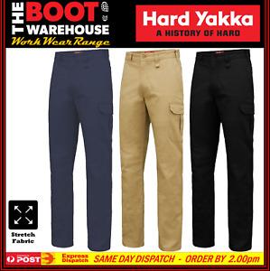 Hard Yakka Y02597 Work Pants - Basic Stretch Drill Cargo - Heavy Duty NEW STYLE!