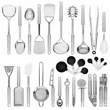 Master Chef Stainless Steel Kitchen Cooking Utensil Set 29 Pieces Cookware Tools