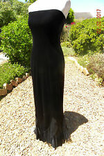 BEAUTIFUL LONG  BLACK VELVET DRESS, SIZE 10, MORTICIA, GOTHIC, STEAMPUNK, FRILLS
