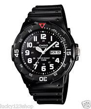 MRW-200H-1B Casio Watch 100M Date Day Display Black White Analog Resin New