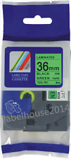 36mm TZ-761 Black on Green Label Tape Compatible Brother TZe-761 P Touch 26.2ft