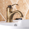 Retro Antique Brass Bathroom Mono Sink Mixer Water Tap Single Lever Basin Faucet