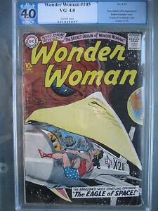 Wonder Woman #105 PGX 4.0 not CGC CBCS Origin 1st Wonder Girl DC Comics 1959