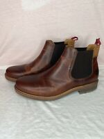 TIMBERLAND MEN'S OAKROCK CHELSEA MED BROWN FULL GRAIN STYLE A2CW4 SIZE 10.5 Mens