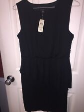 Women's Black Ann Taylor Dress size 2  Lined Bodice And Tiered Skirt Bottom