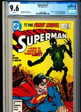 SUPERMAN 1 CGC 9.6 WHITE pgs DC 1987 Origin and 1st app new METALLO
