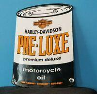 VINTAGE HARLEY DAVIDSON MOTORCYCLE PORCELAIN SERVICE DEALERSHIP OIL QUART SIGN