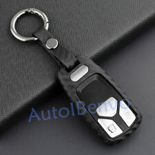Carbon Fiber Textured Car Key Holder For Audi B9 A4 A5 Q5 S4 S5 SQ5 Accessories