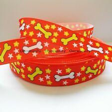 Designer Antwerp Flowers Red Jacquard Art Ribbon Dog Collar MA902