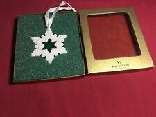 Vintage Wedgwood White Star Snowflake Ornament In Original Box
