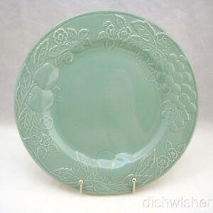 """Savoir Vivre FRUIT PROMENADE CELADON MF003 Dinner Plate(s) 10 5/8"""" EXCELLENT"""