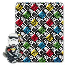 Star Wars Storm Trooper Hugger Pillow Blanket Combo Gift Set Fleece Throw NEW