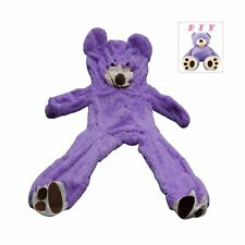 79 in 200cm Purple Giant Teddy Bear Cover HUGE Plush Toy Semi-finished No Filler