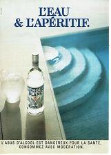 Publicité Advertising 107  1992  apéritif anisé Berger Blanc
