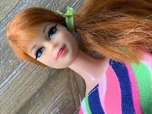 Vintage Mattel Talking Stacey Doll - Redhead Side Ponytail Swimsuit Pretty - TLC