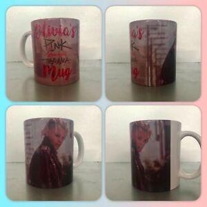personalised mug cup pink p!nk beautiful trauma hurts 2b human im not dead try