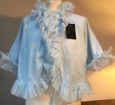 "VINTAGE 1950-60'S  ST MICHAELS LIGHT BABY BLUE NYLON PENOIR JACKET 38/40"""