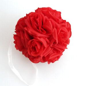15x21cm Silk Rose Pomander Flower Kissing Ball Wedding Party Home Decoration US