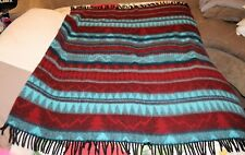 "Vintage Made In Italy Happidea  Blanket Throw Soft Beautiful 54"" X 61"""