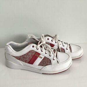 Dexter Lori Women's Size Ten Pin Bowling Shoes White With Pattern UK 8/US 8.5M