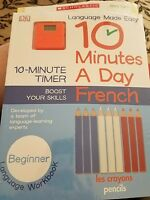 10 Minutes a Day: French, Beginner by DK Publishing Paperback Book (English)