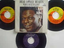 """LOT OF 4  ' NAT """"KING"""" COLE ' HIT 45's+1PS[Dear Lonely Hearts]  THE 50's & 60's!"""