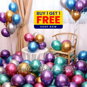 """Chrome Balloons 5""""inch Birthday Arch Kit Wedding Baby Shower Party Ballons UK"""