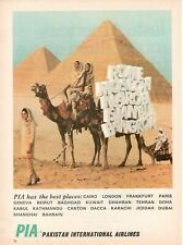 1969 Original Advertising' Advertising Pia Pakistan International Airlines