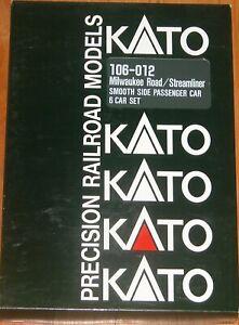 KATO 106-012 N SMOOTH SIDE PASSENGER 6 CAR SET MILWAUKEE ROAD