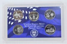 2000-S 5 Coin State Quarter Proof Set No box or COA