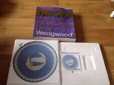 Wedgwood Light Blue Jasper Christmas Plate Boxed with Leaflet 1979