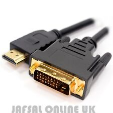 1M Gold HDMI to DVI-D 24+1 Pin Digital Cable Laptop PC TO HDTV LCD Monitor Lead