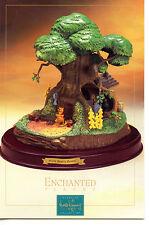 Winnie Pooh Bear's Tree House-Walt Disney Sculpture-Modern Advertising Postcard