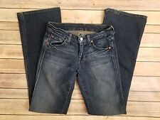 Seven 7 For All Mankind Womens A Pocket Flare Dark Wash Jeans Tag Size 24 G903