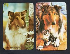 #920.690 Blank Back Swap Card -MINT pair- Collie dogs