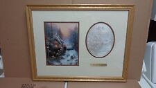 THOMAS KINKADE SWEATHEART  COTTAGE ACCENT PRINT,WITH POEM AND COA FRAMED