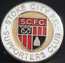 STOKE CITY Vintage supporters club badge Maker REEVES B'ham Brooch pin 25mm Dia