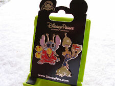 Disney * STITCH & PLEAKLEY * 2 Pin Set * New on Card Trading Pins
