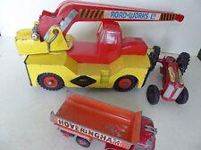 Triang Jumbo Crane 1960's 'Road Works Ltd' & Tractor Matchbox Hoveringham Tipper