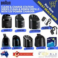 Braun Clean & Charge Charging Base Refill Cartridges Power Charger Clean & Renew