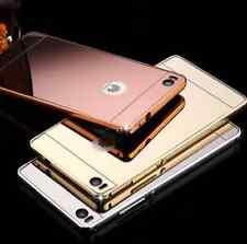 Funda para Huawei P9 Lite marco aluminio + tapa espejo metal + Cristal opcional