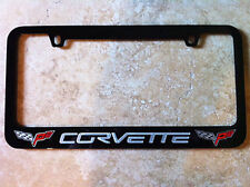 Corvette C6 05-13 License Plate Frame Black Powder Coat