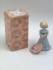 Enesco 1981 Growing Up Birthday Girl Age 6 Blonde Porcelain Figure w/ Box & Tag