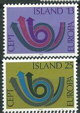 ISLANDIA EUROPA cept 1973 Sin Fijasellos MNH