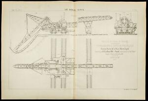 1886 - Karte Eines Navvy Dampflok Französisch - Works der Kanal Des Panama