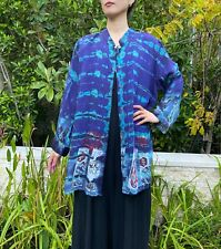 Citron Santa Monica Blouse Plus size New with tag Japanese Arts tie-dyed