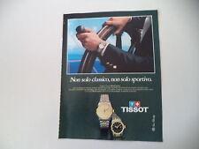 advertising Pubblicità 1982 TISSOT PR100 SAPHIR