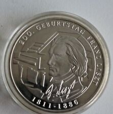 SILBERMÜNZE, BRD, DEUTSCHLAND, 10 EURO 2011, 200. GEBURTSTAG LISZT in Kapsel